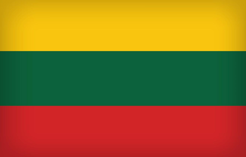 Photo wallpaper Flag, Lithuania, Lithuania Large Flag, Flag Of Lithuania, Lithuanian Flag