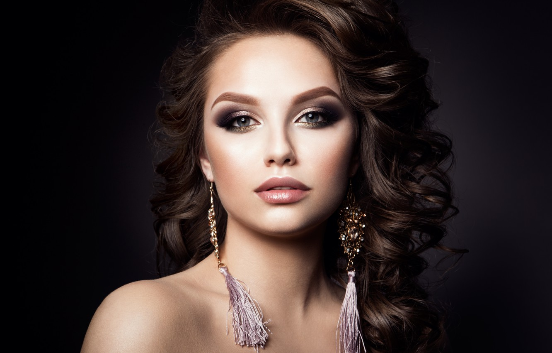 Photo wallpaper look, portrait, makeup, model, Korabkova