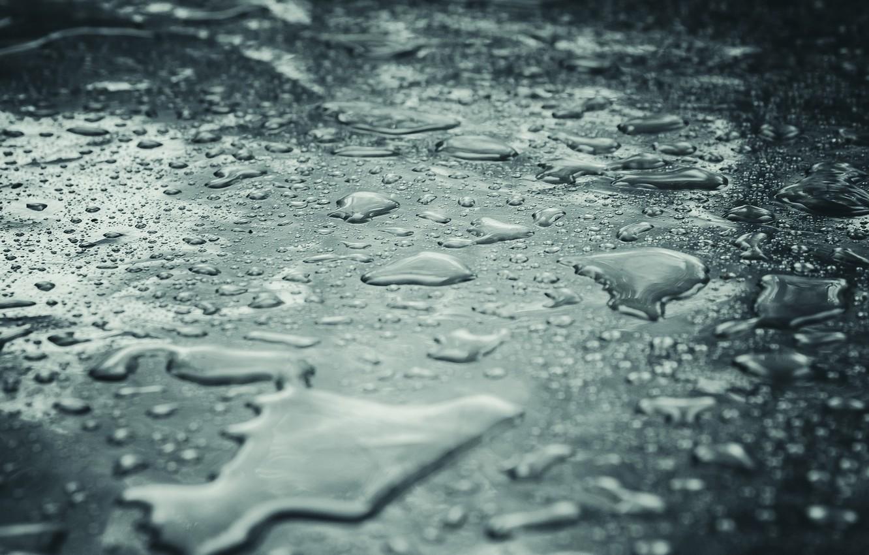 Photo wallpaper water, drops, macro