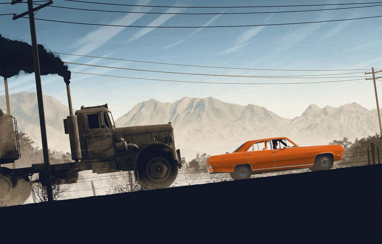 Wallpaper Auto Machine Truck Chase Movie Art Art The