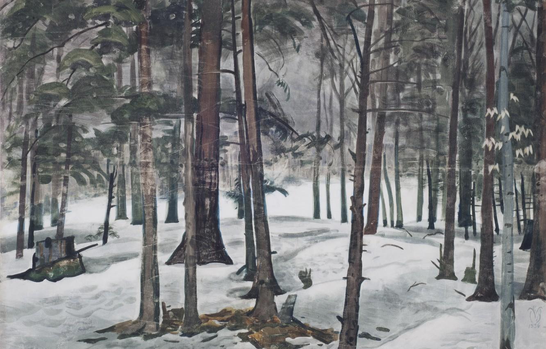 Photo wallpaper 1936, Charles Ephraim Burchfield, Snow Light