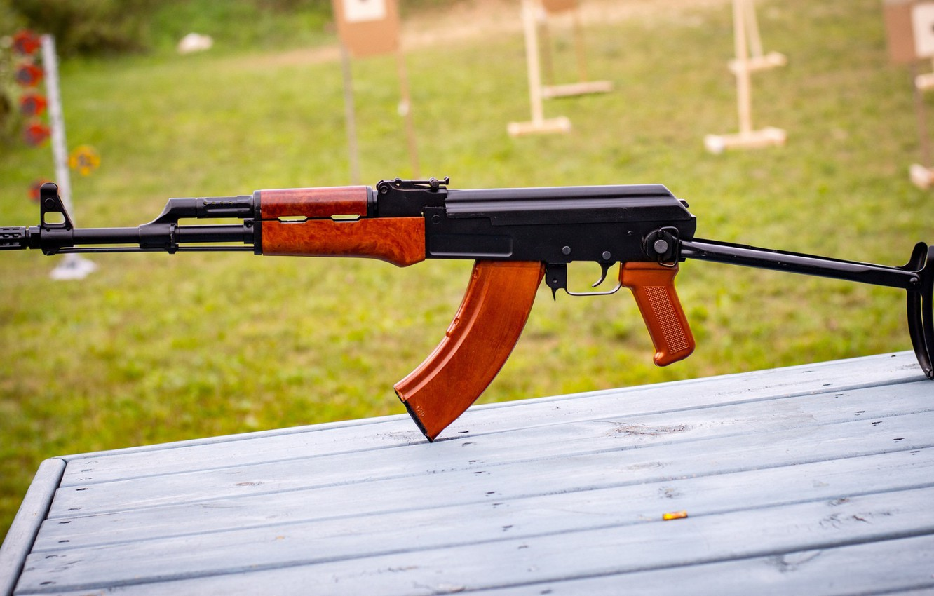 Photo wallpaper weapons, gun, weapon, custom, Kalashnikov, AK 47, assault rifle, assault Rifle, AK 47, Kalashnikov, AKM, …