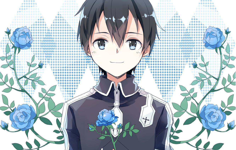 Wallpaper Flowers Roses Guy Blue Roses Sword Art Online