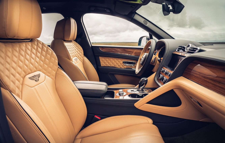 Photo wallpaper Bentley, salon, 2020, Worldwide, Bentayga V8