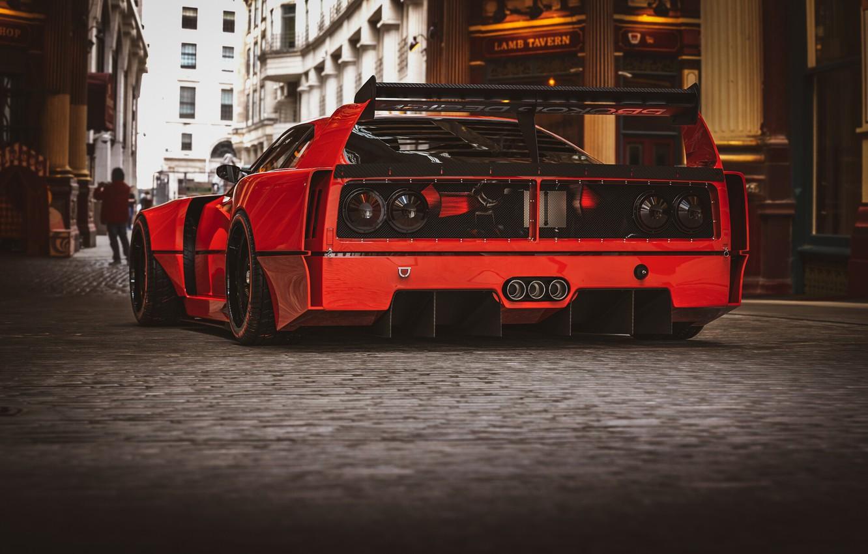 Photo wallpaper Red, Auto, Machine, Red, Car, Rendering, Sports car, Sportcar, Ferrari F-40, Transport & Vehicles, Rostislav …