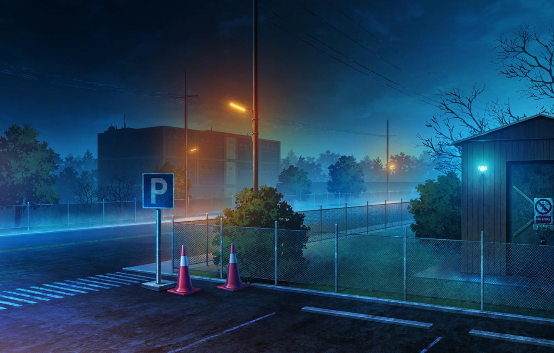 Photo wallpaper night, the city, road