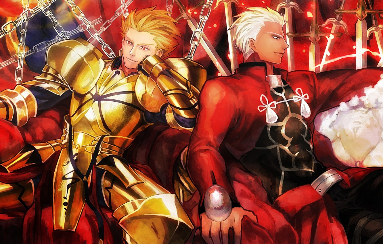 Wallpaper Guys Gilgamesh Archer Fate Stay Night Fate Stay