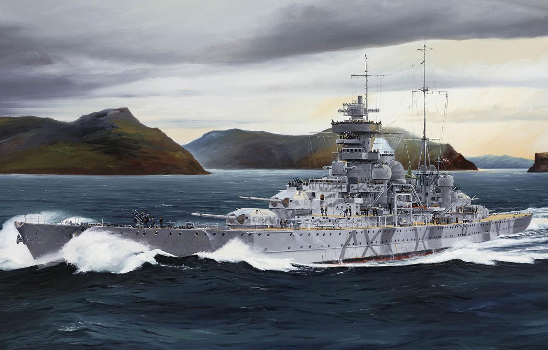 Photo wallpaper Germany, Prinz Eugen, Kriegsmarine, Randall Wilson, Prinz Eugen, Admiral Hipper, the third heavy cruiser of …