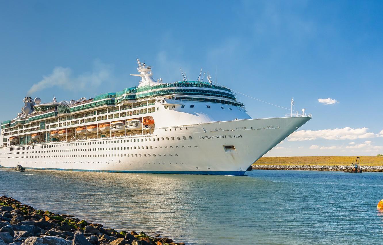 Photo wallpaper Bay, liner, cruise