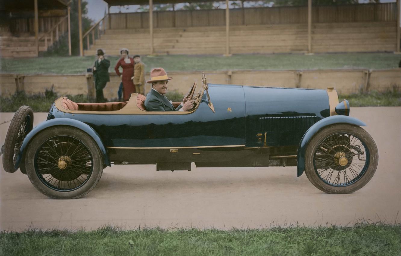 Photo wallpaper retro, Bugatti, classic, 1920