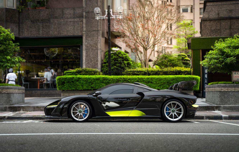 Photo wallpaper sports car, side view, McLaren Senna
