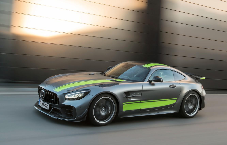 Photo wallpaper Mercedes-Benz, speed, AMG, PRO, GT R, 2019