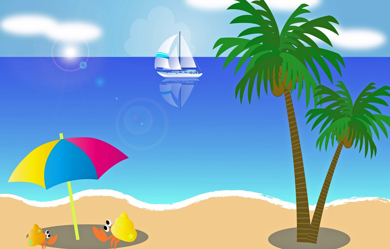 Photo wallpaper sea, beach, stay, paly