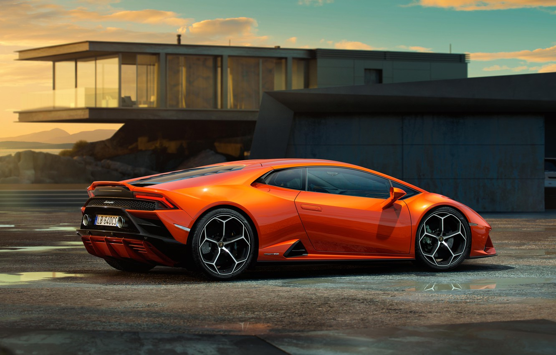 Photo wallpaper Lamborghini, supercar, Evo, Huracan, 2019, Lamborghini Huracan Evo