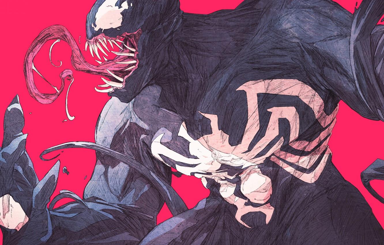 Photo wallpaper language, teeth, marvel, Venom, Venom, tongue, symbiont, teeth, symbiote, Eddie Brock, Eddie Brock, by chun …