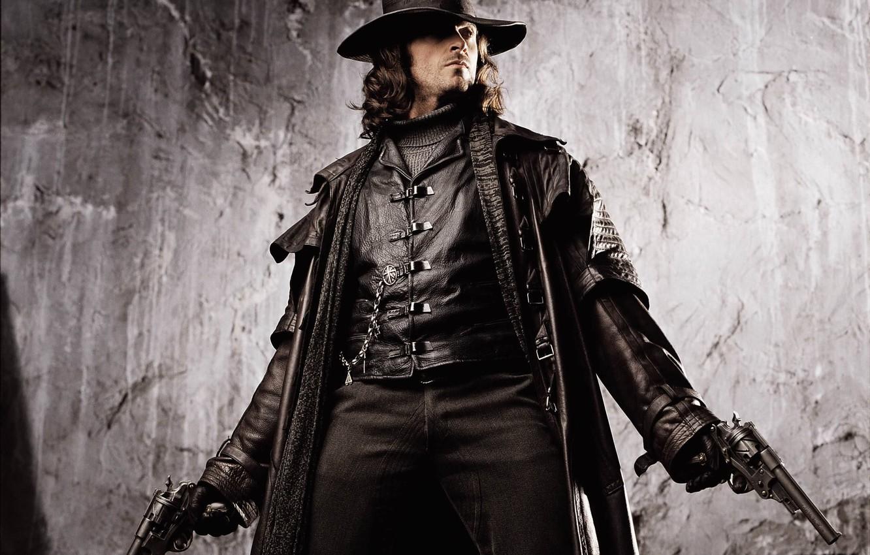Photo wallpaper weapons, guns, Van Helsing, Hugh Jackman, Hugh Jackman, Van Helsing, monster hunter, Gabriel Van Helsing