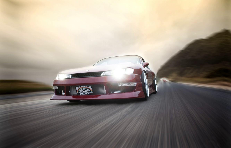 Photo wallpaper Nissan, Speed, Vehicle
