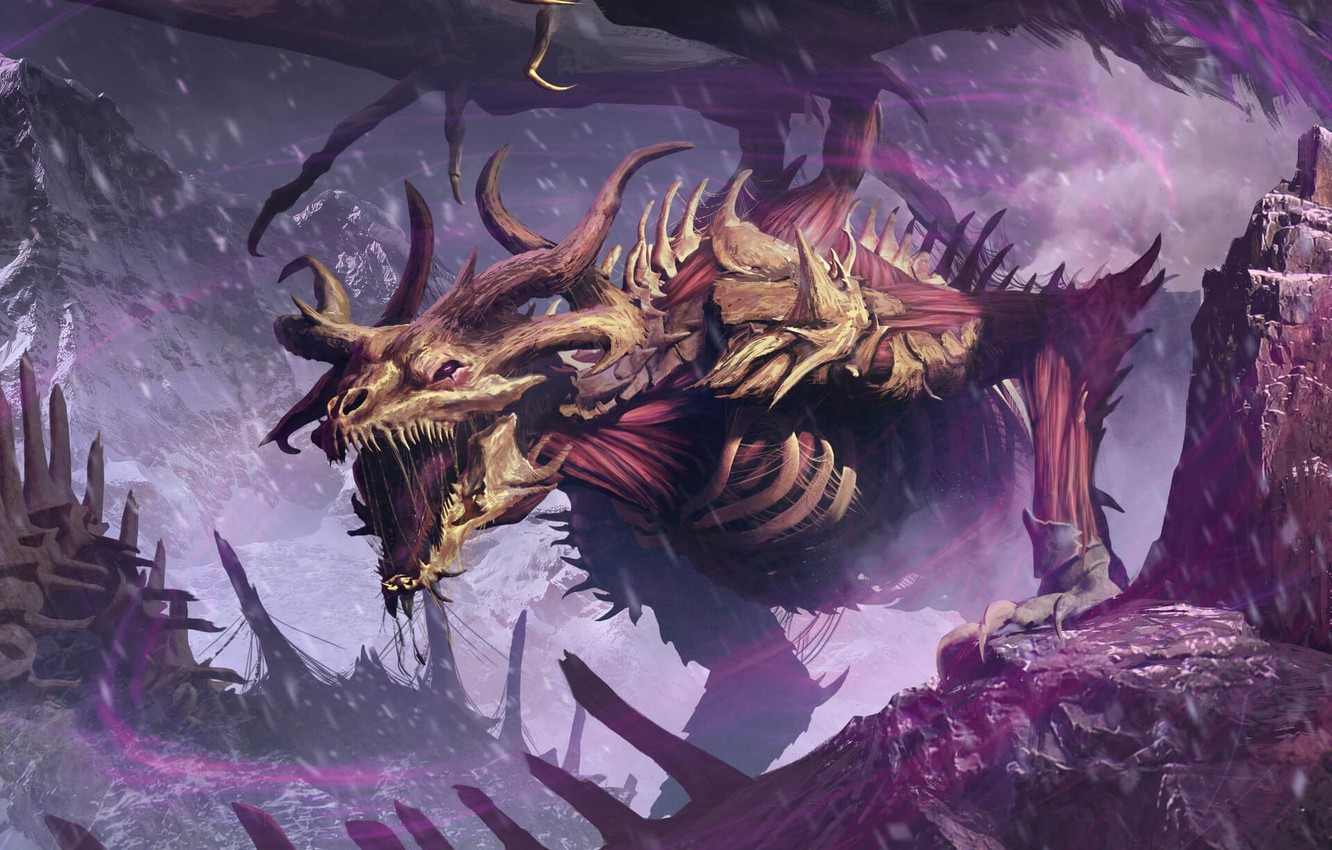 Photo wallpaper cold, dragon, mouth, claws, horns, gorge, horror, cruise, dragon, Arena, aggressive, roar, the bones of …