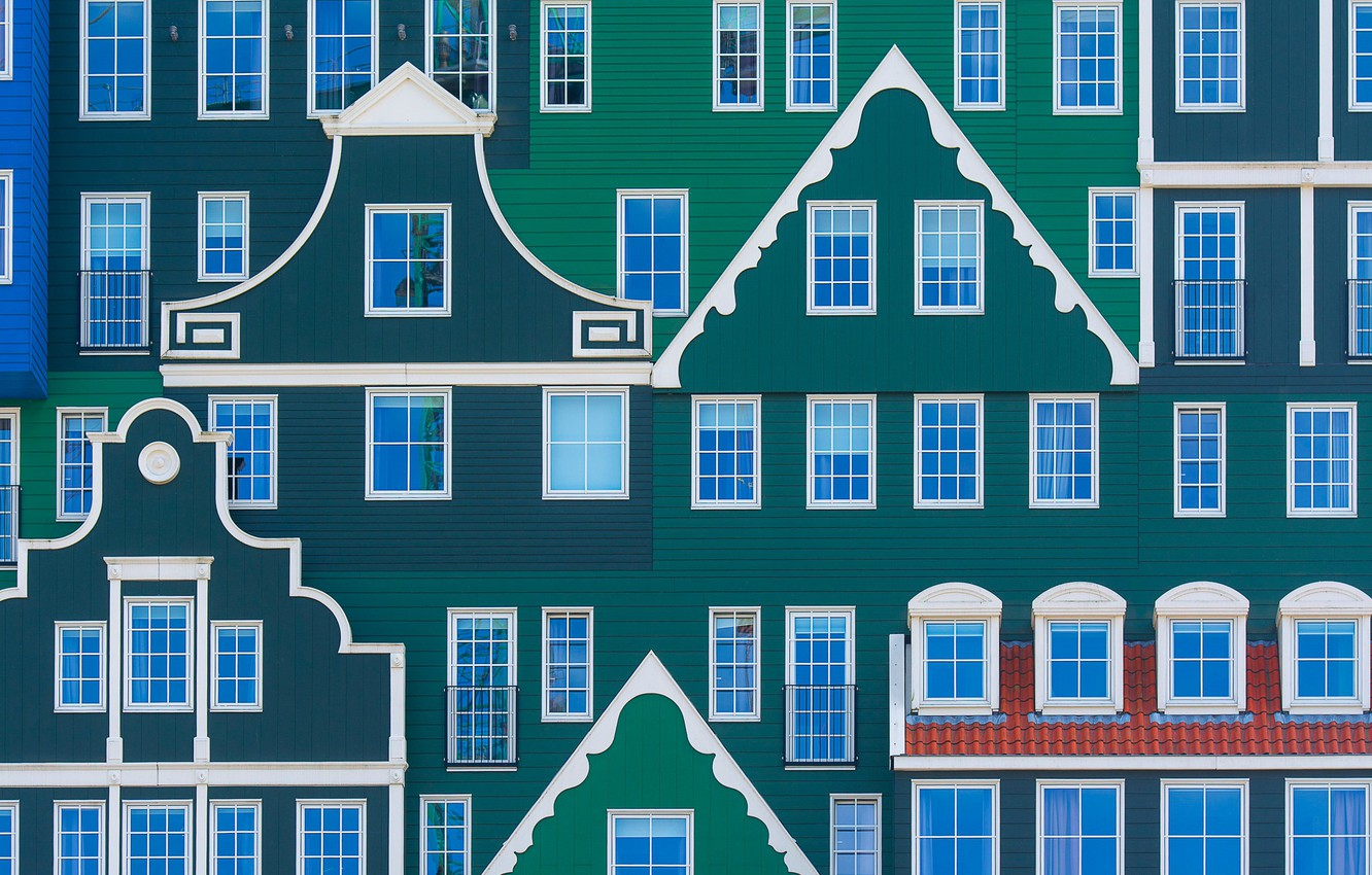Photo wallpaper house, the building, Windows, Netherlands, facade, Netherlands, Zaandam, Zaandam