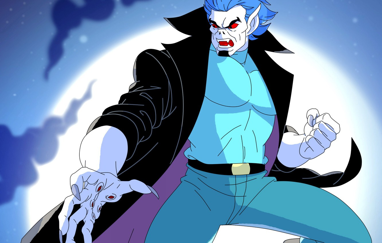 Photo wallpaper night, the moon, vampire, Morbius, Spider-Man The Animated Series, Michael Morbius, living vampire