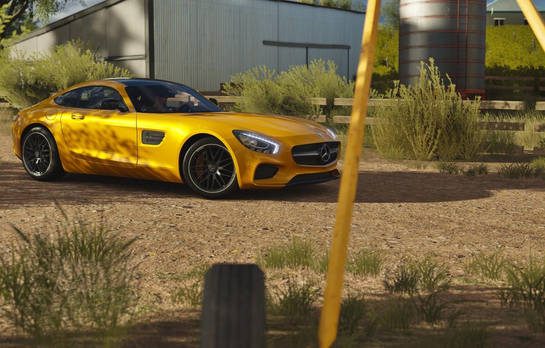 Photo wallpaper Mercedes, AMG, forza horizon 3, GT S Coupe