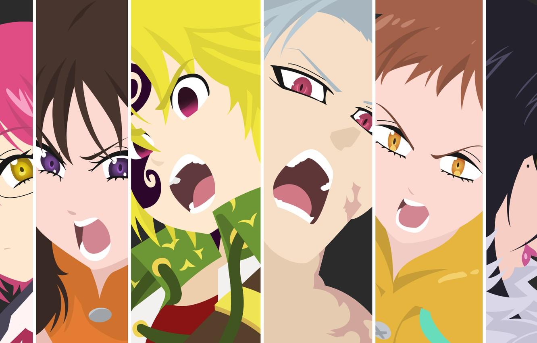 Wallpaper Collage Characters Nanatsu No Taizai The Seven Deadly