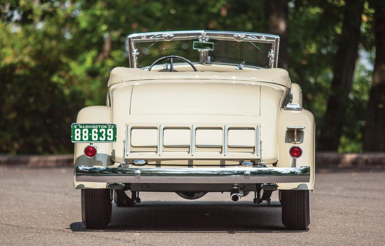 Photo wallpaper Roadster, rear view, Convertible, Chrysler Custom Imperial