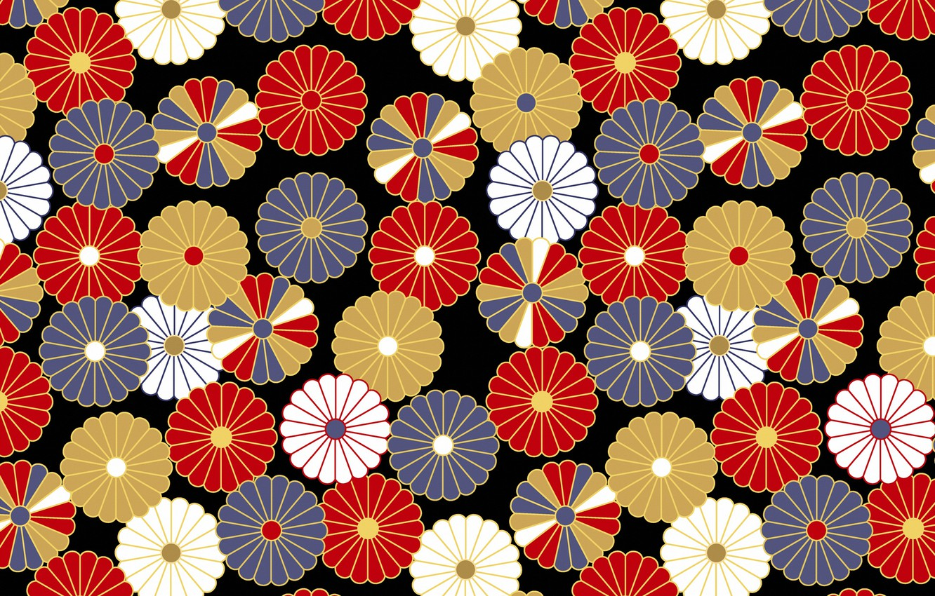 Photo wallpaper pattern, texture, Japanese style