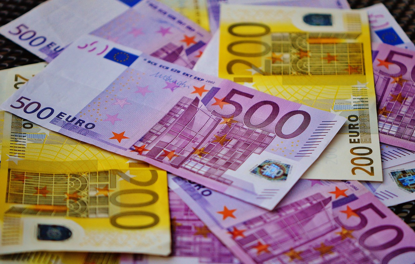 Photo wallpaper money, blur, Euro, currency, bills, euro, currency, banknotes