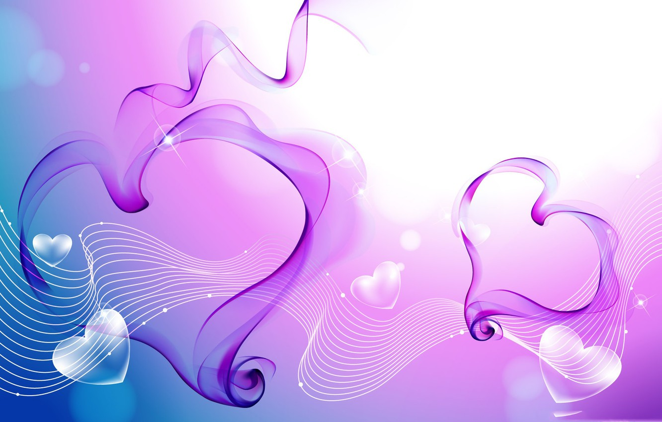 Photo wallpaper love, line, background, heart, music, hearts, love, melody, heart, blue, background, purple, melody
