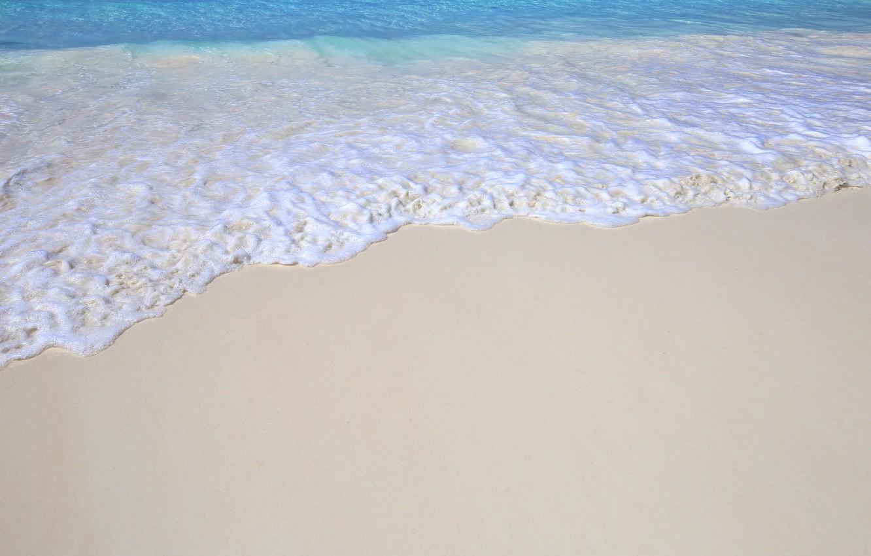 Photo wallpaper sand, sea, wave, beach, summer, summer, beach, sea, blue, sand, wave