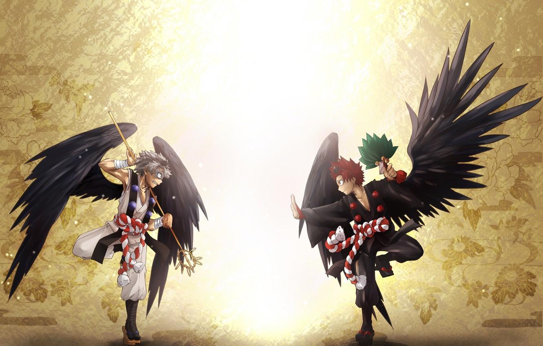 Photo wallpaper wings, guys, My Hero Academia, Boku No Hero Academy, My Hero Academy