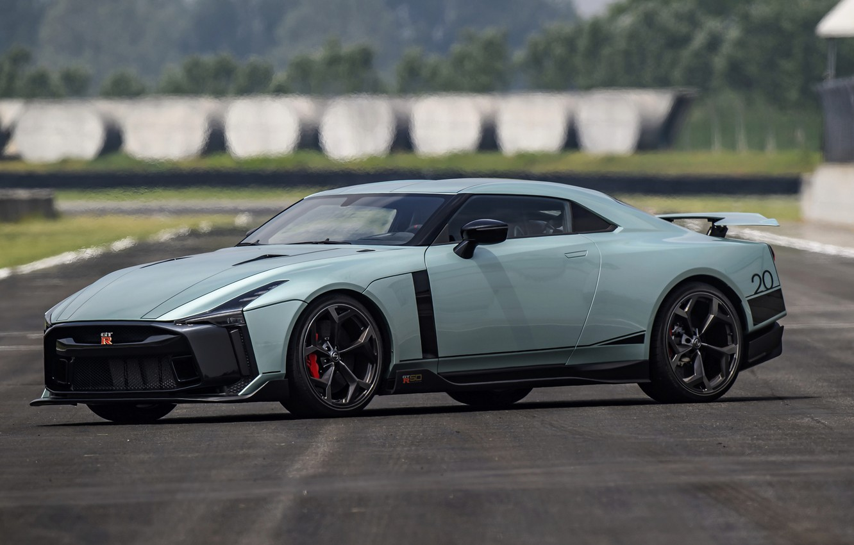 Photo wallpaper asphalt, track, Nissan, GT-R, R35, Nismo, ItalDesign, 2020, V6, GT-R50, 720 HP