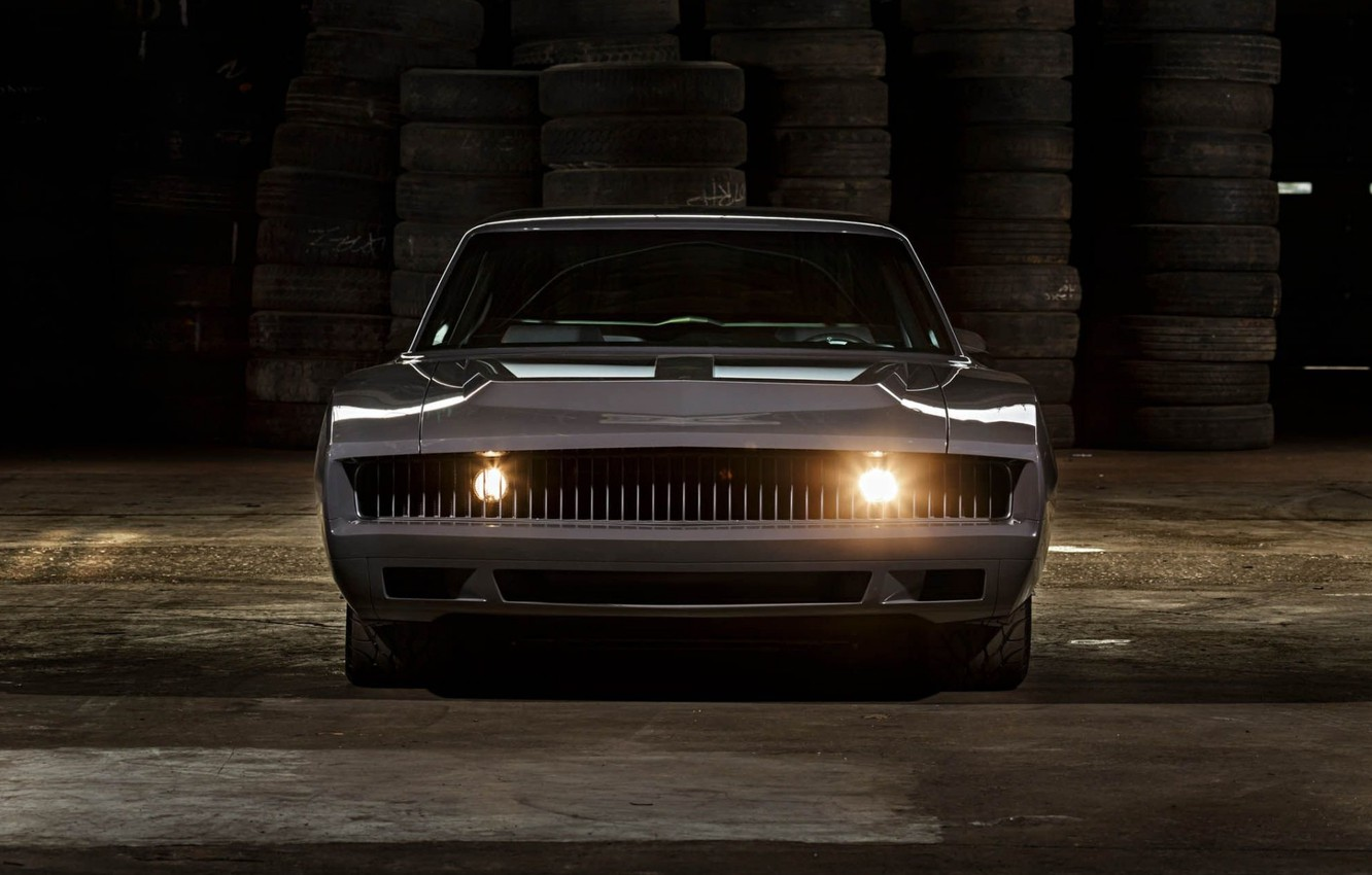 Photo wallpaper Muscle, Light, Dodge Charger, Vehicle, Modified, RS