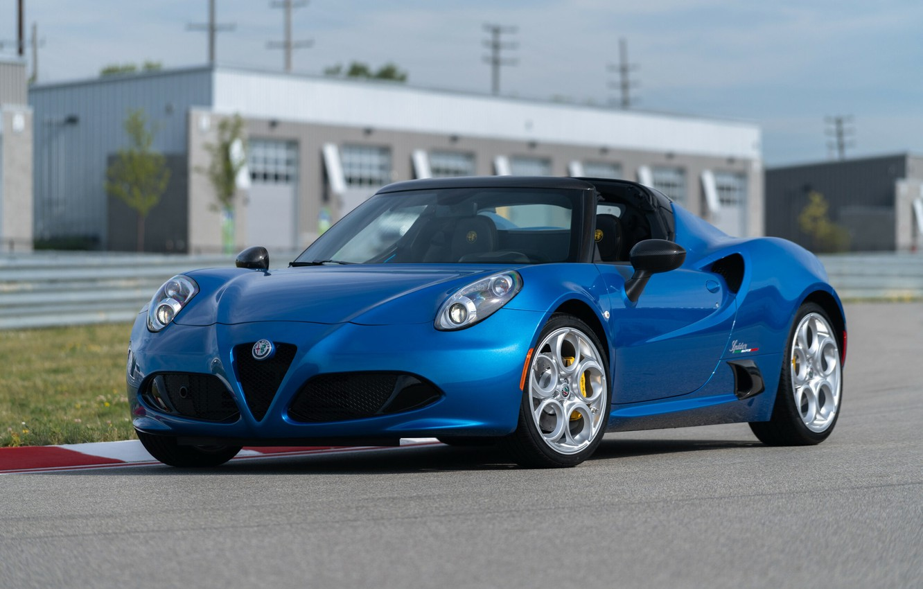 Photo wallpaper spider, Alfa, Romeo, Alfa Romeo 4C SPIDER