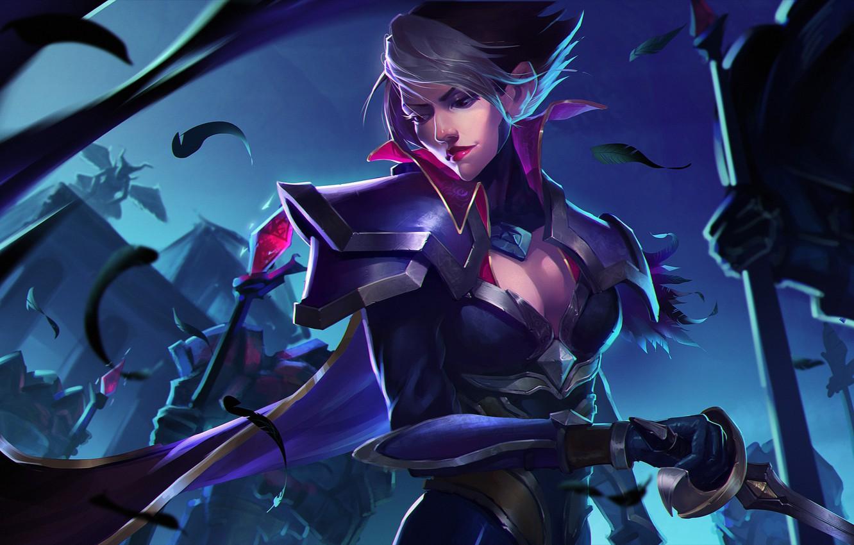 Wallpaper Girl Art Fiora League Of Legends Images For Desktop