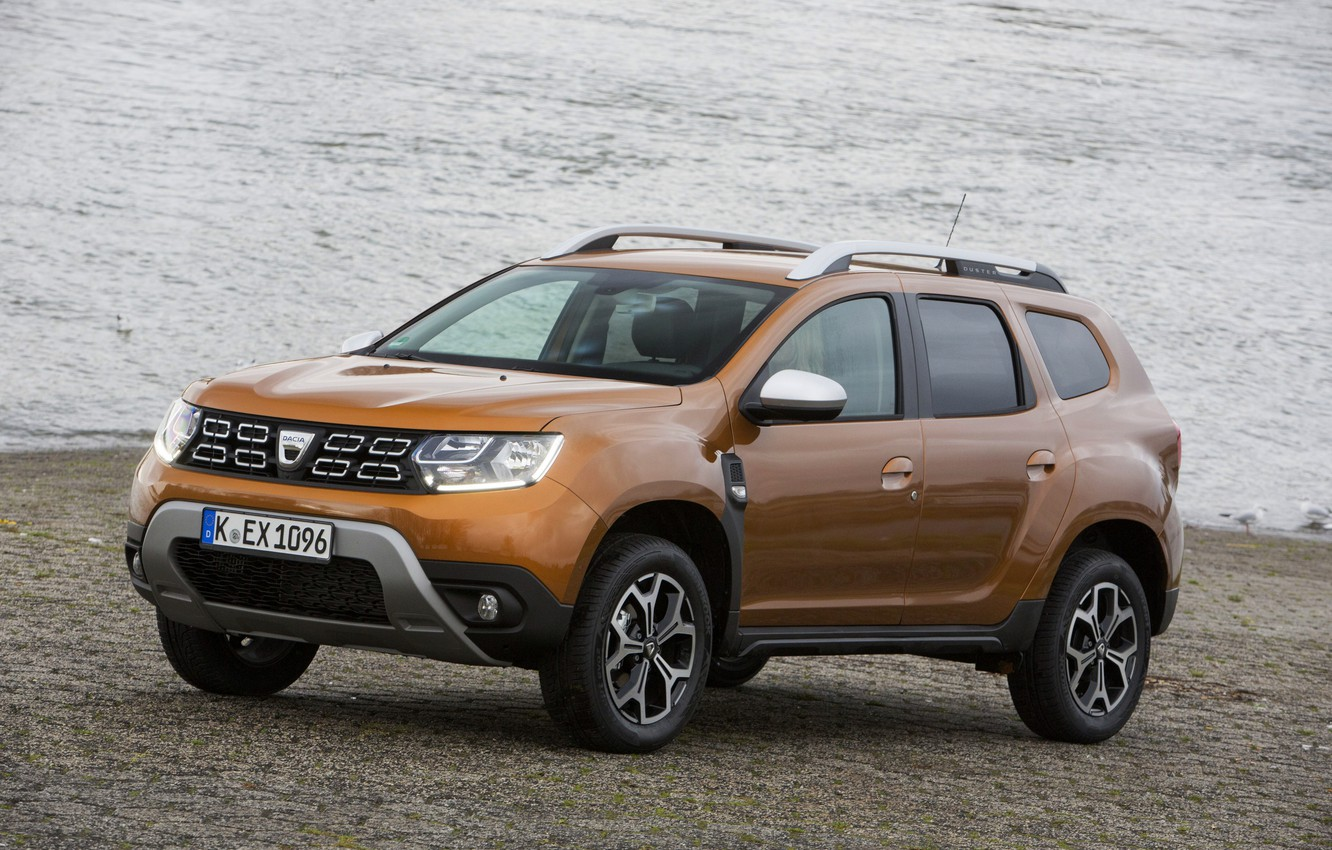 Photo wallpaper Renault, on the shore, crossover, SUV, Duster, Dacia