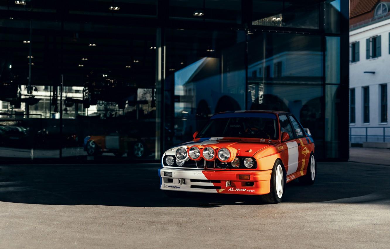 Photo wallpaper BMW, front, E30, M3, M3 Rally