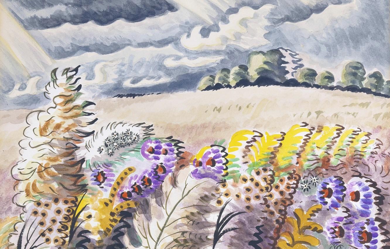 Photo wallpaper 1955, Charles Ephraim Burchfield, September Wind