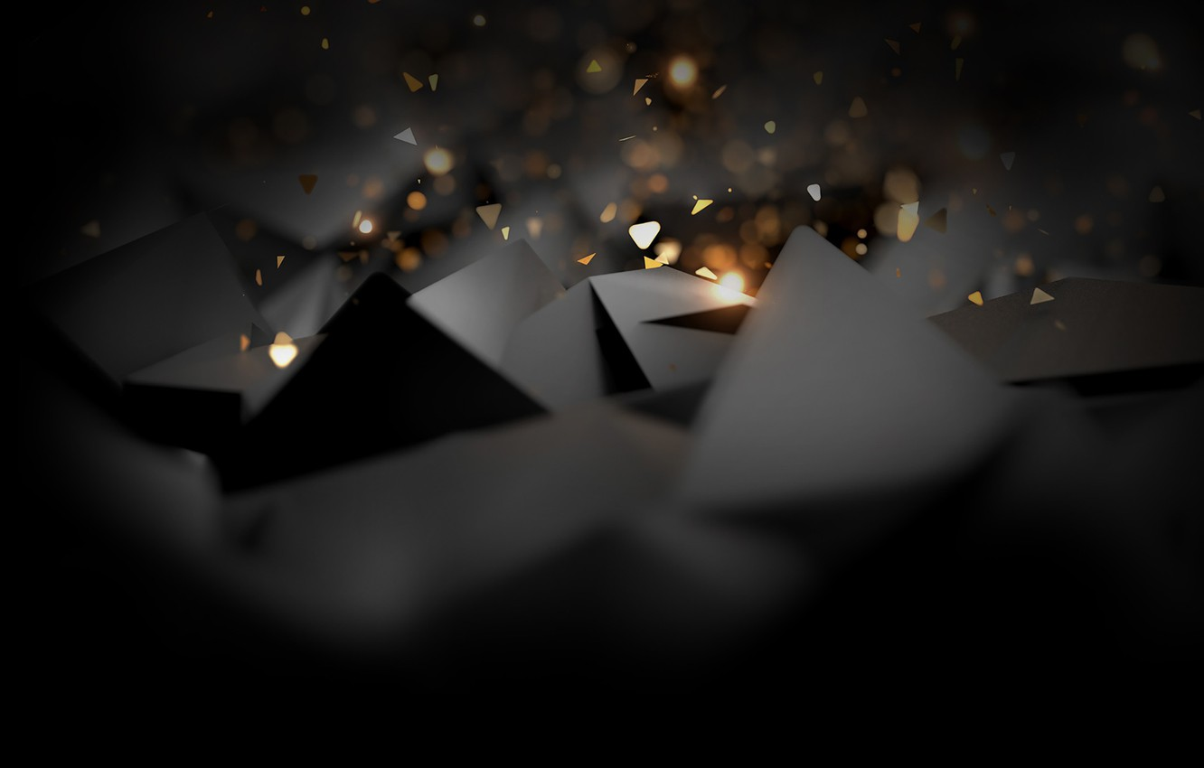 Photo wallpaper background, black, Triangle, abstract