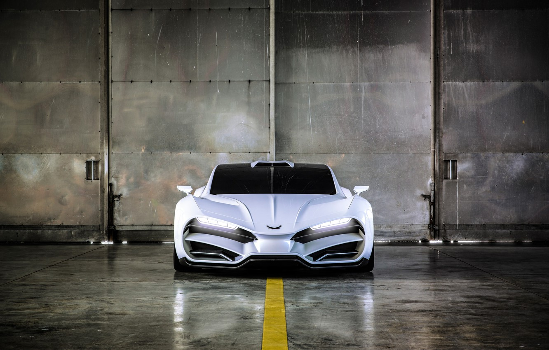 Photo wallpaper supercar, front view, 2018, hypercar, Milan, Milan automobile GMBH, Milan Red