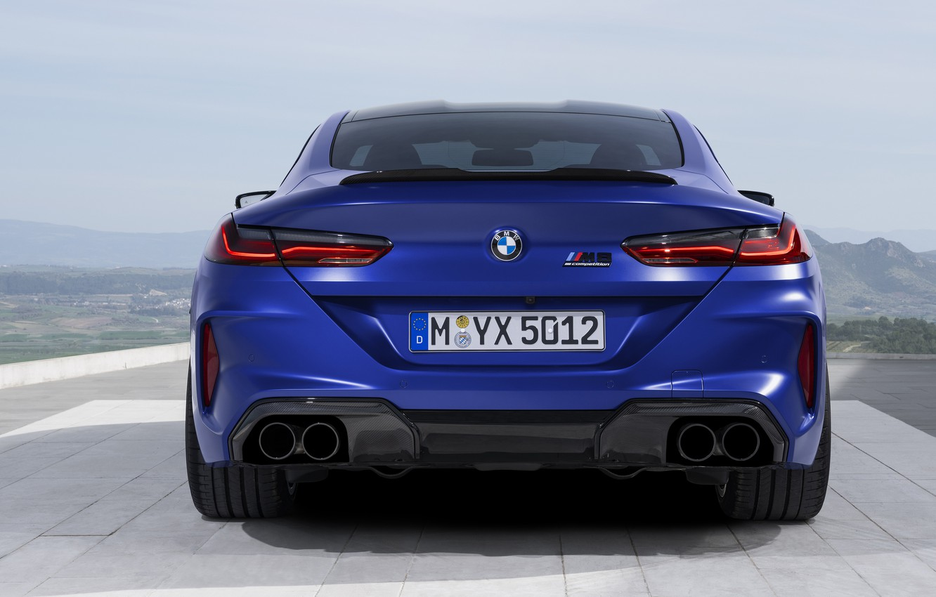 Photo wallpaper BMW, supercar, rear view, Coupe, Competition, 2019, BMW M8, F92