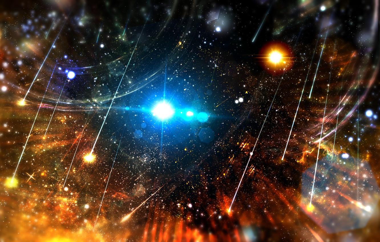 Photo wallpaper space, stars, nebula