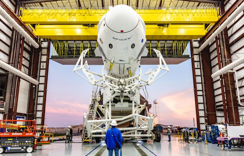 Photo wallpaper USA, USA, Dragon, SpaceX