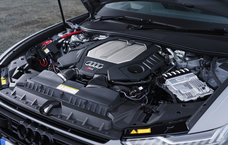 Photo wallpaper Audi, universal, RS 6, under the hood, 2020, 2019, V8 Twin-Turbo, RS6 Avant, UK-version