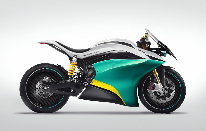 Photo wallpaper motorcycle, bike, bike, art, 2019, EVO concept, Jakusa Design