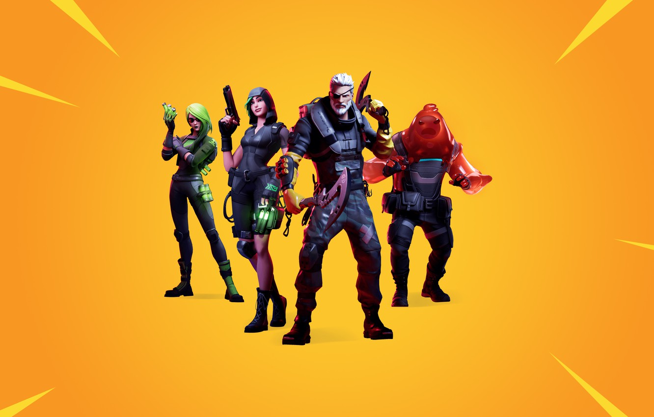 Wallpaper Characters Battle Shooter Royale Fortnite
