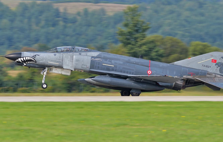 Wallpaper Fighter Landing F 4 Phantom Ii Chassis Mcdonnell