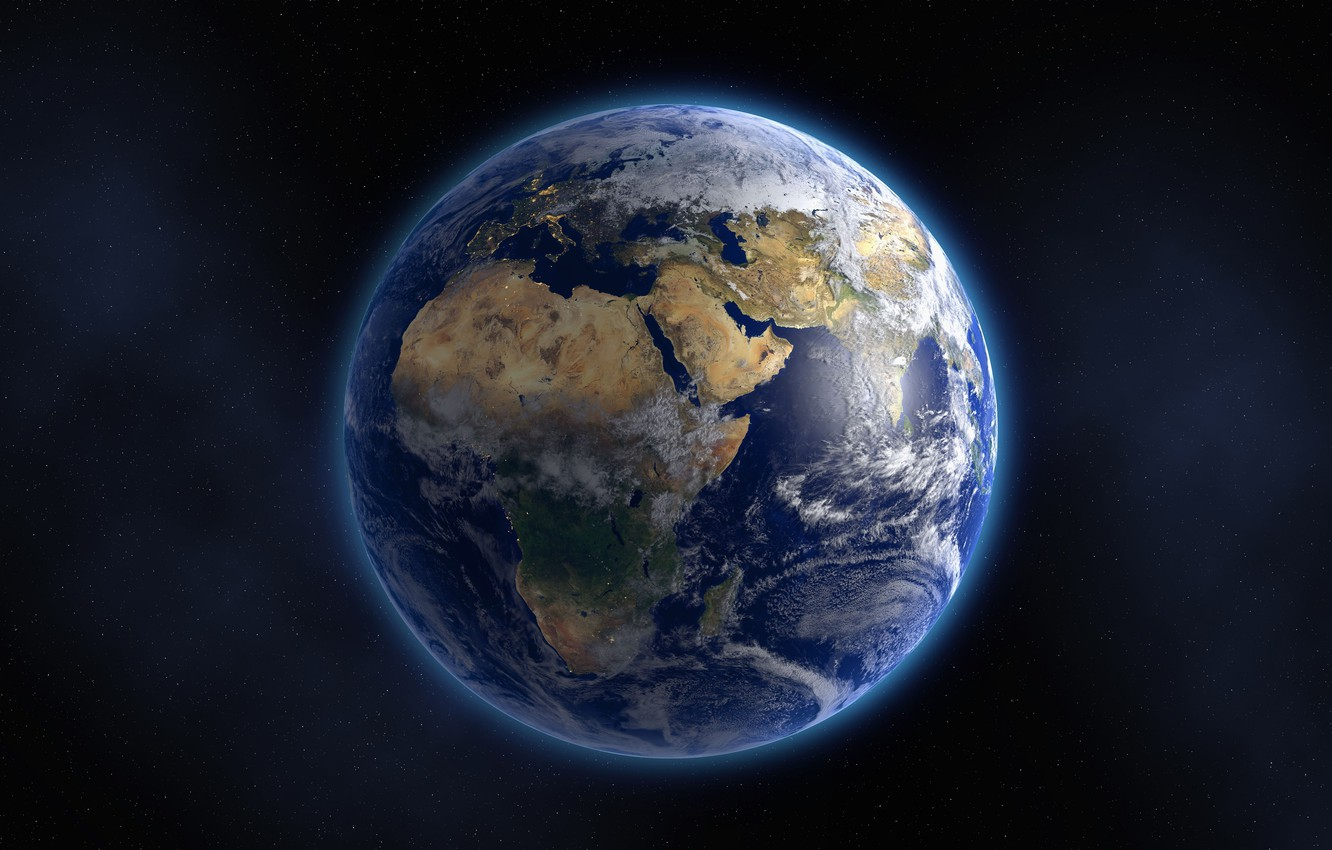 Photo wallpaper Planet, Earth, The world, Space, Blue planet