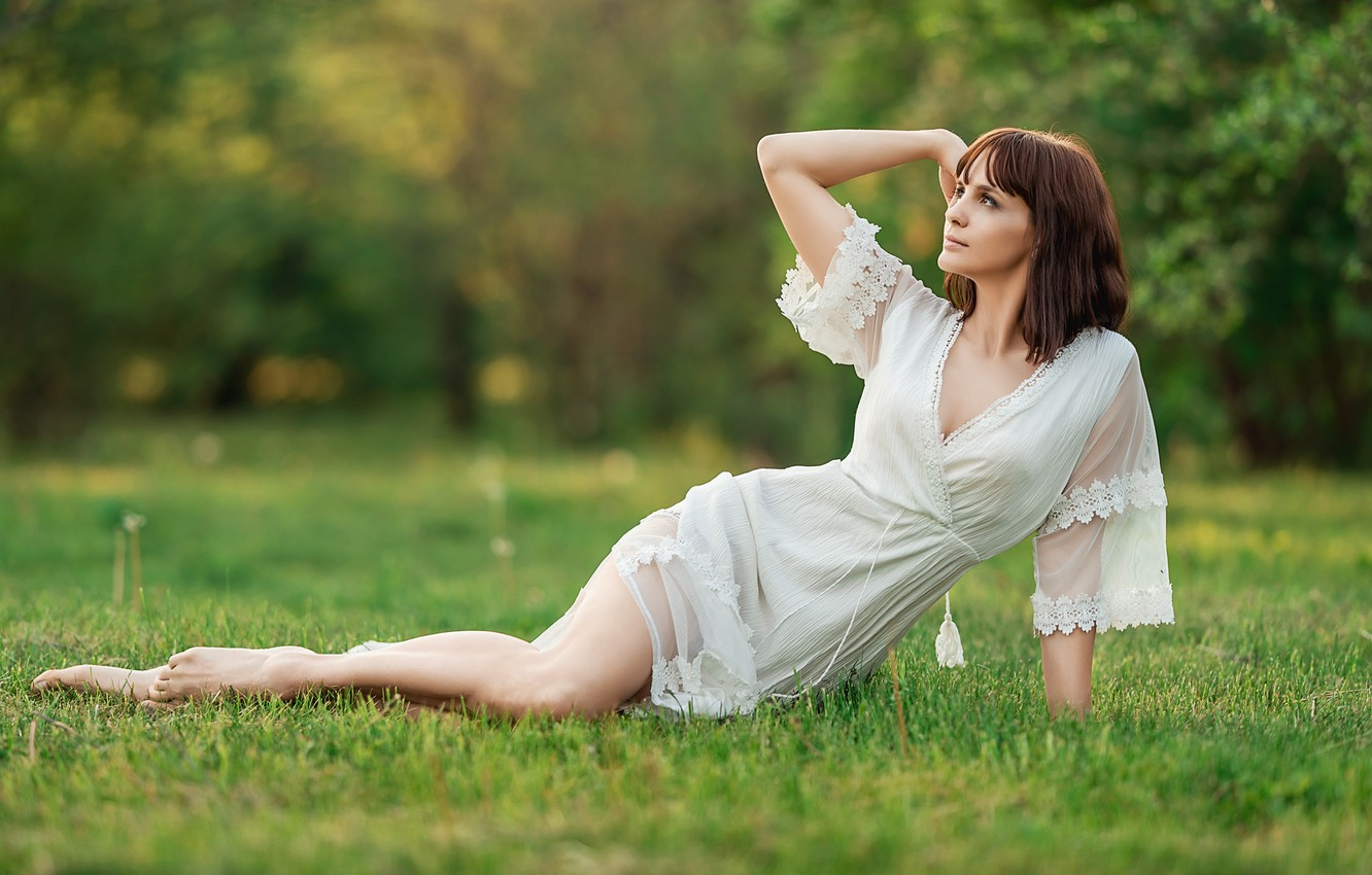 Photo wallpaper dress, Park, pretty, A Diakov George